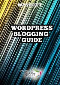 The cover of the free eBook - WordPress Blogging Guide