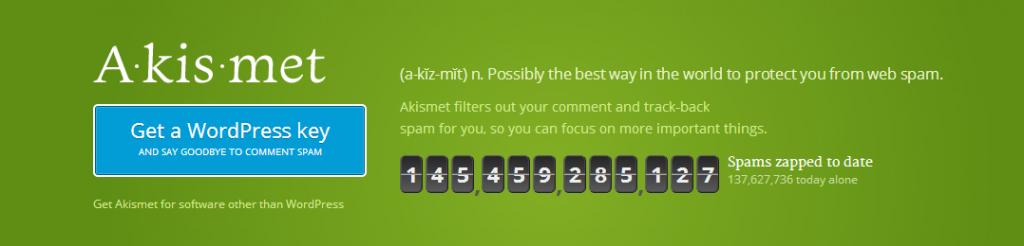 Akismet banner   WordPress comment spam prevention