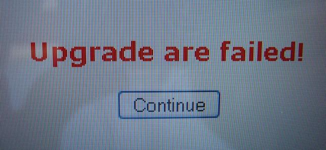 Upgrade are failed | WordPress contributor fail