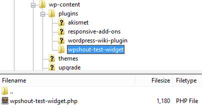 Widget plugin location in WP filesystem