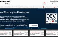 InMotion Hosting homepage