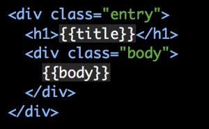 A screenshot of a basic Handlebars template.