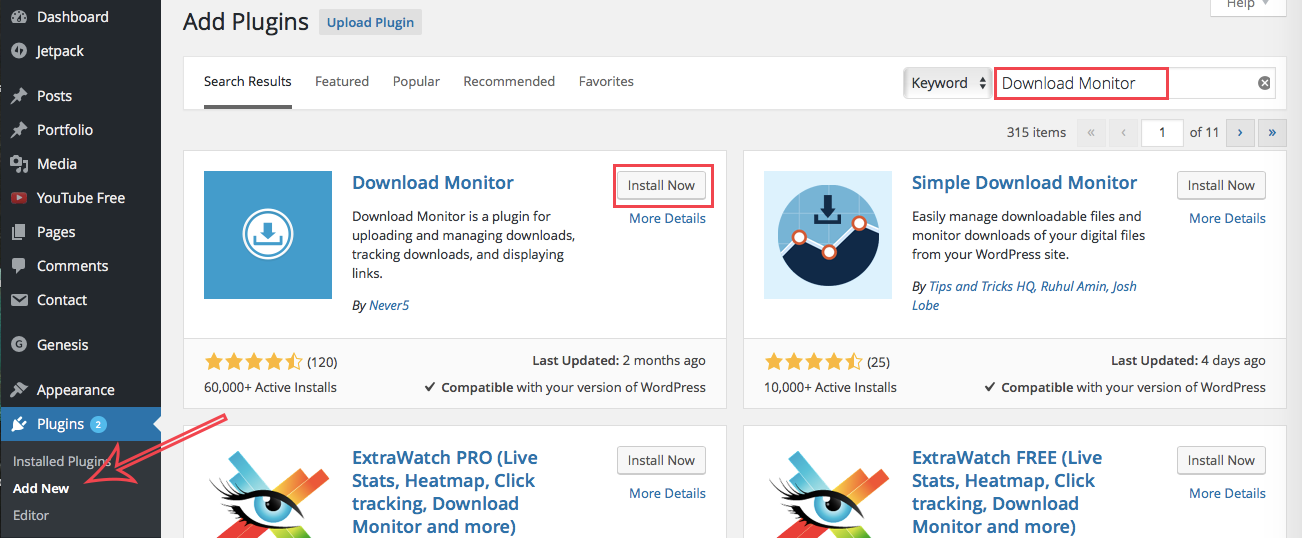 how to set up file downloads 1