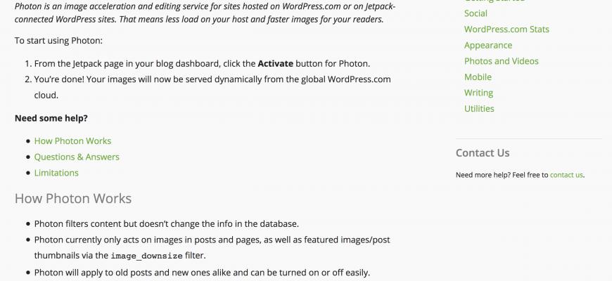 Jetpack Photon Help Screenshot