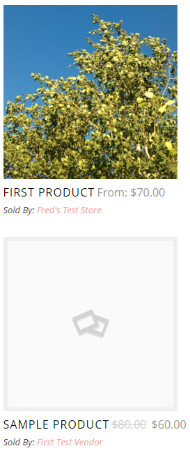 woocommerce products with featured images