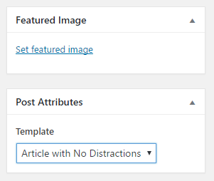 wordpress 4.7 post template
