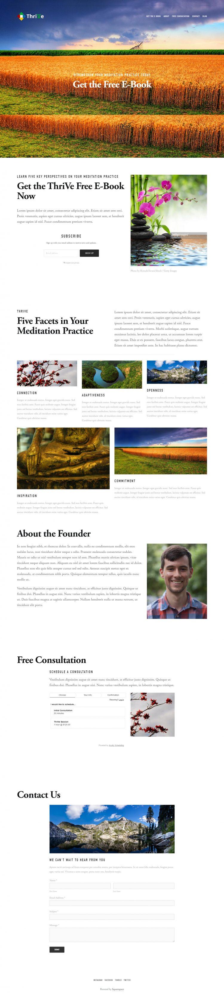 Squarespace vs. WordPress site comparison | Squarespace screenshot
