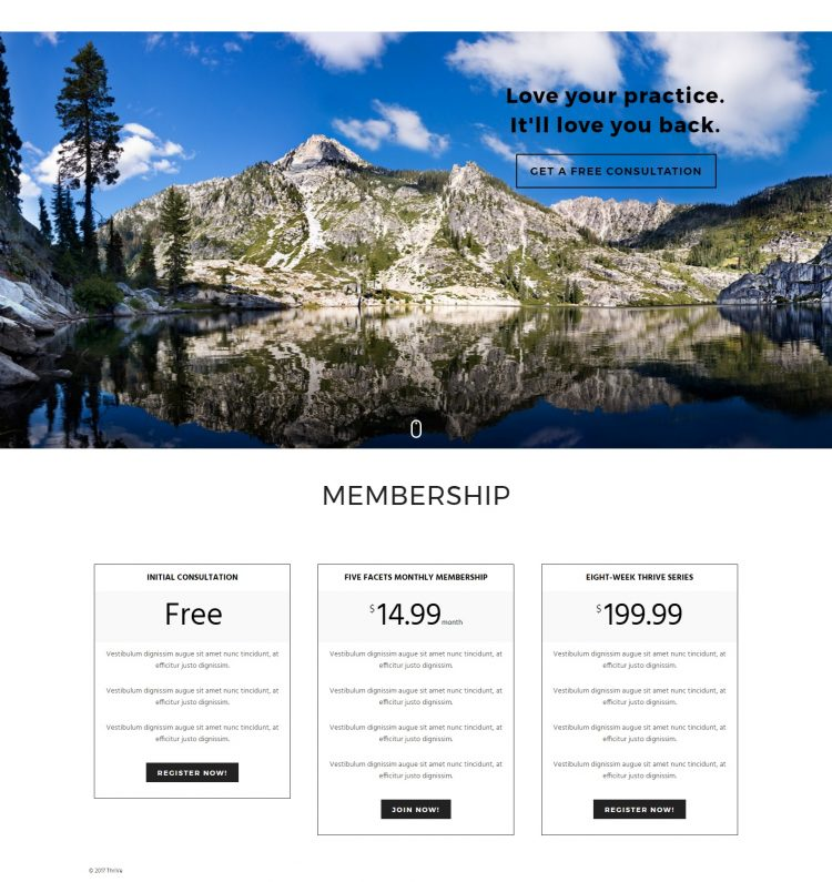 Squarespace vs. WordPress site comparison | WordPress screenshot