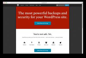Screenshot of VaultPress WordPress backup solution