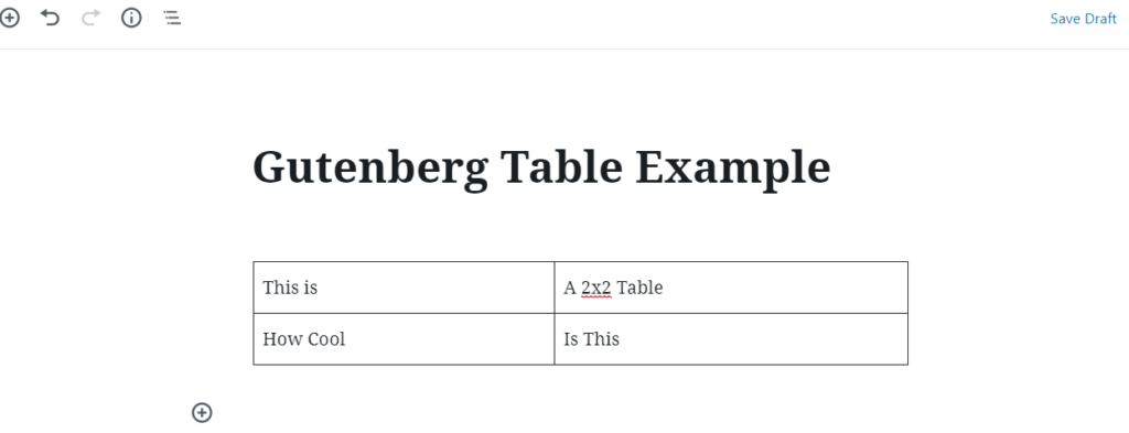 gutenberg vs shortcodes live table example