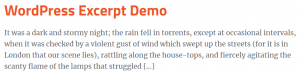 wordpress excerpt default excerpt