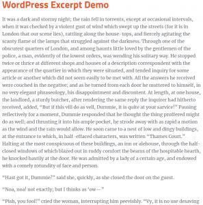 wordpress post full text no excerpt