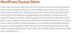 wordpress excerpt lengthen post excerpt