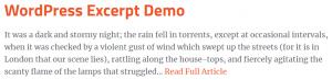 wordpress excerpt using wp_trim_words