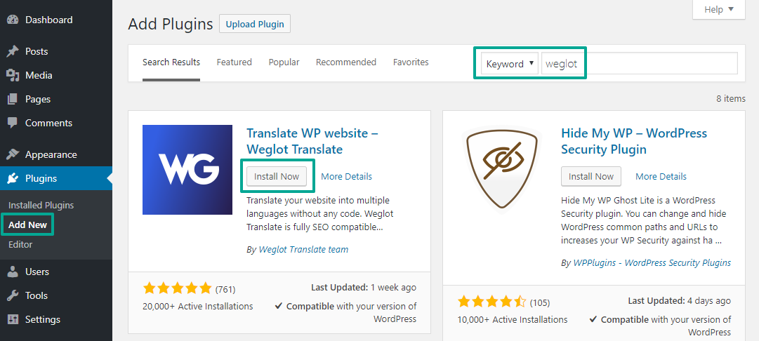 Weglot at WordPress.org