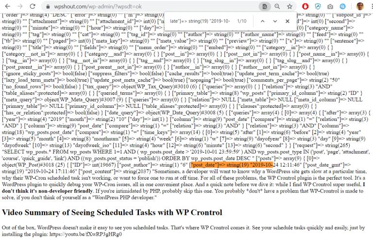 wordpress plugin development tutorial post date
