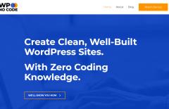 wp no code homepage