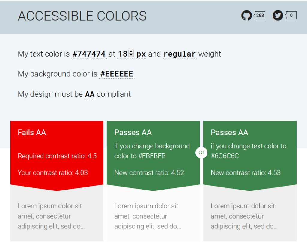 Accessible Colors web tool
