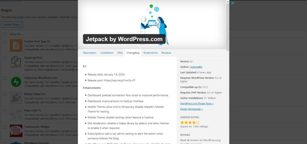 Jetpack plugin changelog.