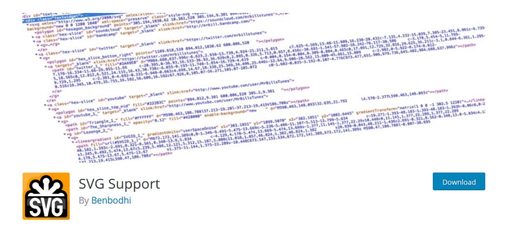 SVG Support WordPress plugin