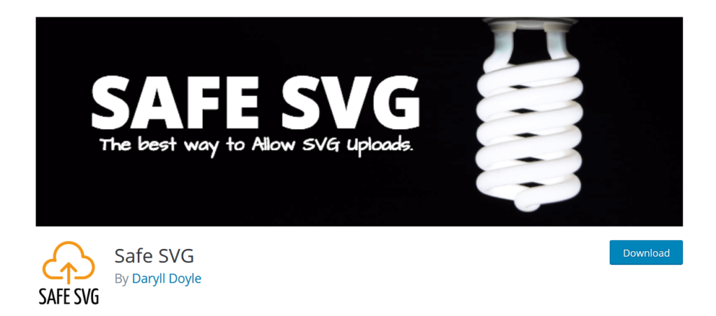 Safe SVG WordPress plugin