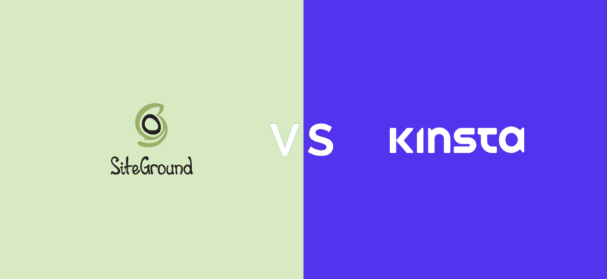 siteground vs kinsta hosting comparison