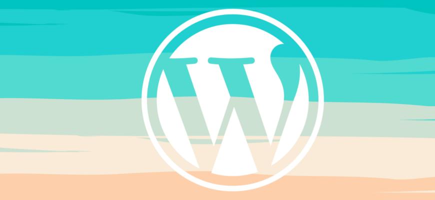 wordpress logo on colored background