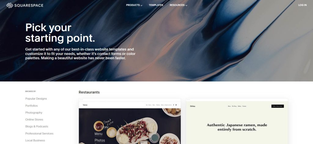 Squarespace Theme Directory