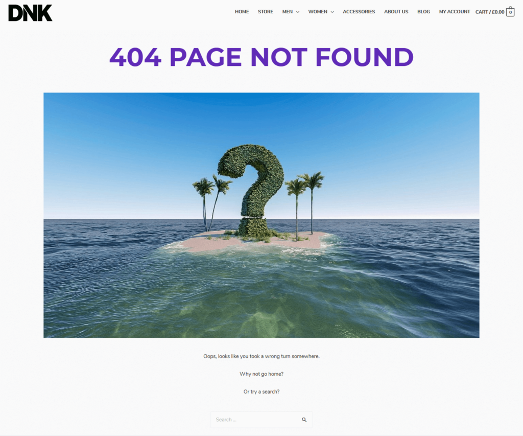 Astra Pro 404 page Custom Layout