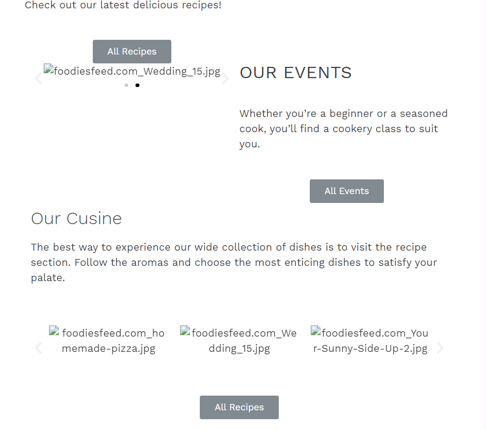 Missing style and images in part of the homepage built with Elementor