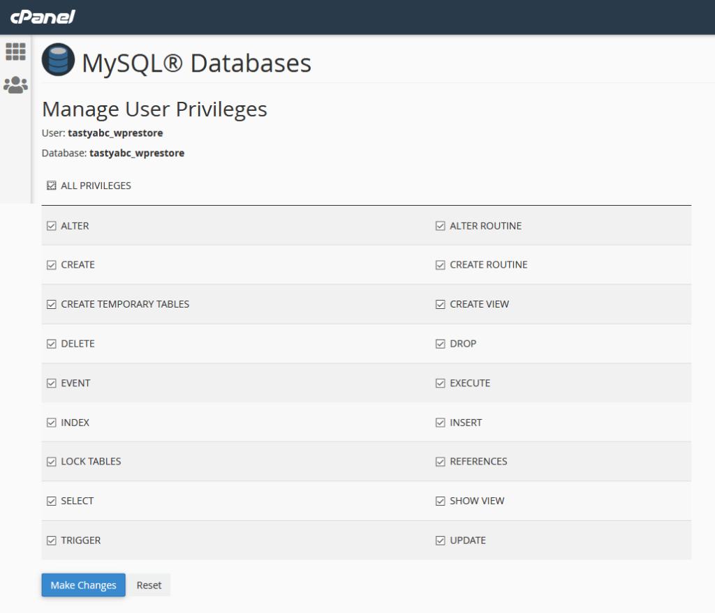 Manage user privileges