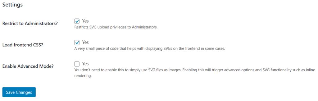 svg support demo screenshot