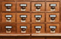 Rows of drawers with file cards