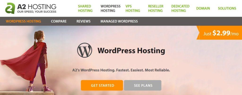 A2 Hosting WordPress plans