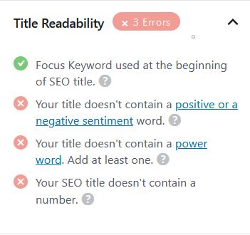 Rank Math Title Readability