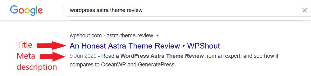 WP Shout Title and meta description