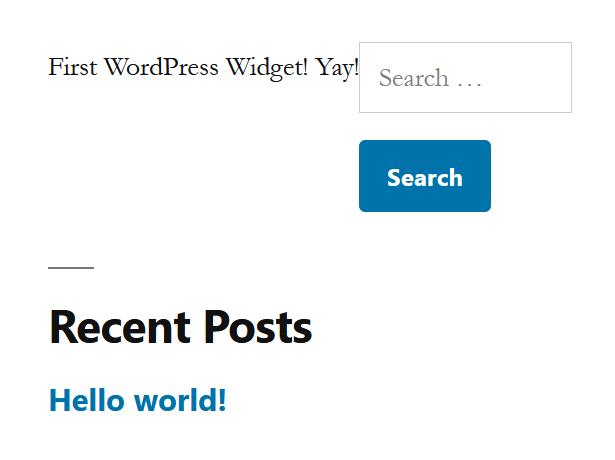First WordPress Widget - front end