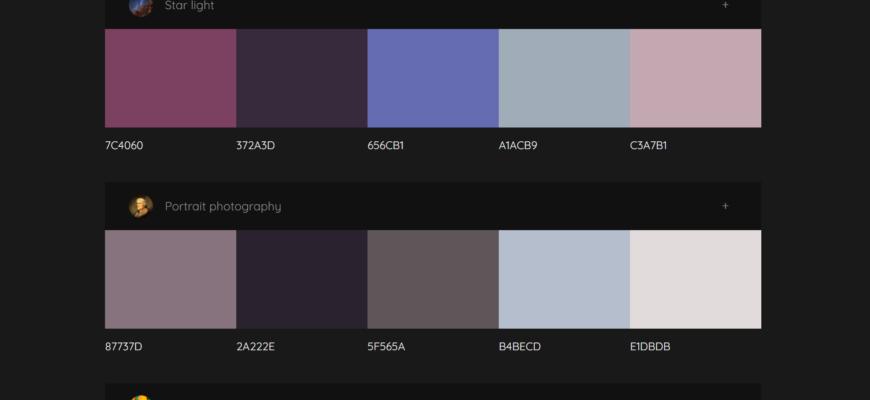 colormind color palettes