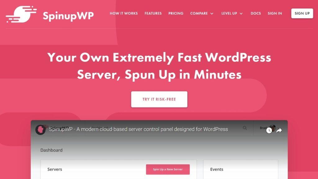SpinupWP lets you use cloud WordPress hosting
