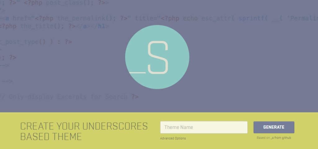 The Underscores WordPress Starter Theme