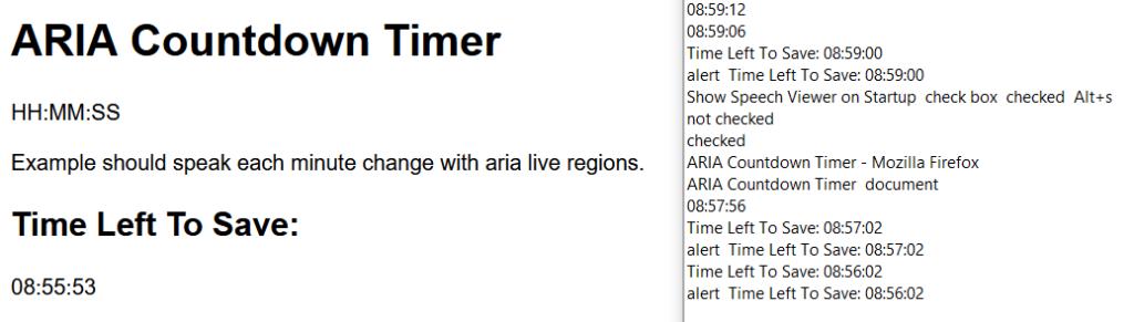 ARIA Countdown Timer